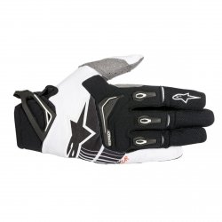 RĘKAWICE ALPINESTARS TECHSTAR S8 BLACK/WHITE