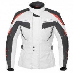 BUSE Kurtka motocyklowa Salerno biało-czarno-czerw