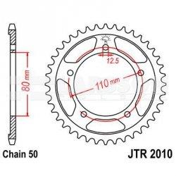 Zębatka tylna stalowa JT 2010-48, 48Z, rozmiar 530 2300714 Triumph Daytona 1200