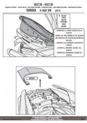 KAPPA KR2136 STELAŻ KUFRA CENTRALNEGO YAMAHA X-MAX 300
