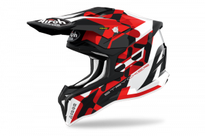 AIROH KASK OFF-ROAD STRYCKER  RED GLOSS