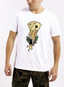 DAVCA T-shirt cards white
