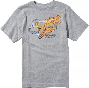 FOX T-SHIRT JUNIOR TURN N BURN LIGHT HEATHER GREY