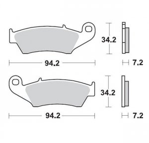 KLOCKI HAMULCOWE KH185 / KH389 METALICZNE: 12 HONDA: CR 125-250-500, CRF 450, XR 400-600-650R, K MOTO-MASTER M093412