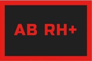 REBELHORN ODZNAKA NA RZEP GRUPA KRWI AB RH+ BL/RED