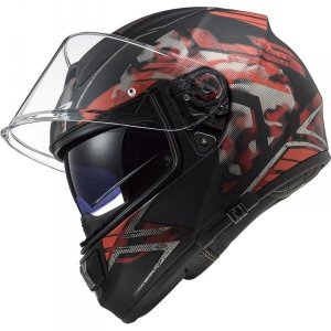 KASK LS2 FF397 VECTOR FT2 STENCIL BLACK RED