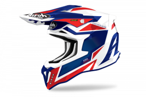 AIROH KASK OFF-ROAD STRYCKER AXE BLUE/RED GLOSS