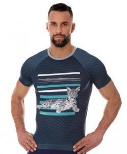 Brubeck SS13240A Koszulka męska City Air grafitowy - Kot