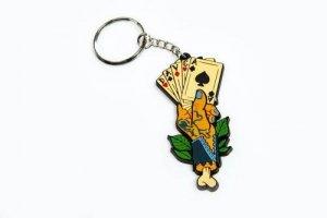 DAVCA BRELOK do kluczy  pendant Cards