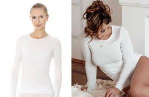 Brubeck LS00900 Koszulka damska z długim rękawem biały