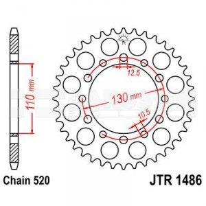 Zębatka tylna stalowa JT 1486-40, 40Z, rozmiar 520 2300753 Kawasaki GPZ 500