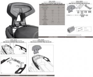 GIVI TB1166 OPARCIE PASAŻERA HONDA Forza 125-300