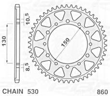 JR ZĘBATKA  860 39 YAMAHA FJ 1200 (91-96) 86039JR