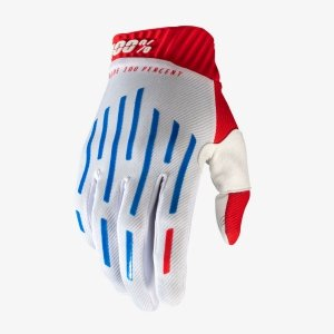 100 PROCENT RĘKAWICE CROSS/ENDURO RIDEFIT WHITE/BL
