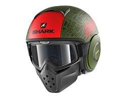 SHARK Kask otwarty DRAK TRIBUTE RM cza/cz/mat/ziel