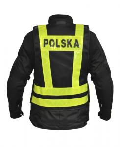 KAMIZELKA ODBLASKOWA OZONE POLSKA BLACK/FLUO