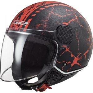 KASK LS2 OF558 SPHERE LUX SNAKE MATT BLACK RED