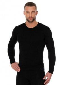 Brubeck LS01120 Koszulka męska z długim rękawem czarny