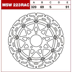 TRW Tarcza hamulcowa MSW223RAC SUZUKI TL GSX-R 600