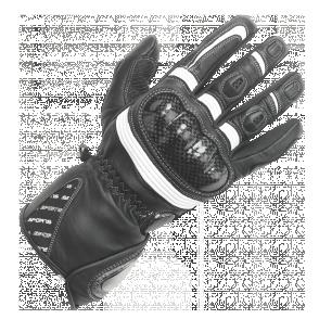 BUSE Rękawice motocyklowe damskie  Misano cza/biał