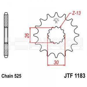 Zębatka przednia JT F1183-18, 18Z, rozmiar 525 2201149 Triumph America 865