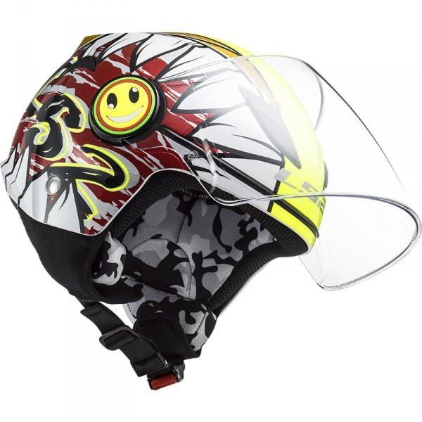 KASK LS2 OF602 FUNNY JUNIOR CRUNCH YELLOW