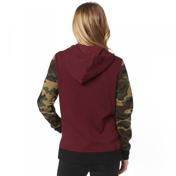 FOX BLUZA LADY Z KAPTUREM EVERGLADE CAMO CRANBERRY