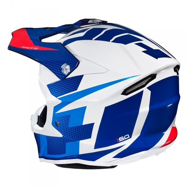 HJC KASK OFF-ROAD I50 ARGOS WHITE/BLUE