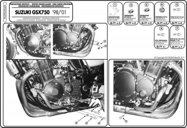 Givi TN392 GMOLE GSF600 GSX600 GSX750  (98-02)