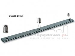 Stalowa listwa zębata (długość 1000mm, grubość 10 mm) + tuleje + śruby