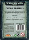 Warhammer 40000(8th) TACTICAL OBJECTIVE CARDS (ENG) tył