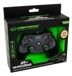 Gamepad PS3/PC USB Esperanza Vanquisher czarny