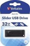 Flashdrive Verbatim Store'n'Go Slider USB Drive 32GB, odczyt 10MB/s, zapis 4MB/s