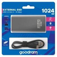 Dysk SSD zewnętrzny GOODRAM HL100 1TB USB-C (450/420) czarny