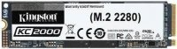Dysk SSD Kingston KC2000 500GB M.2 2280 NVMe (3000/2000 MB/s ) TLC, 3D NAND