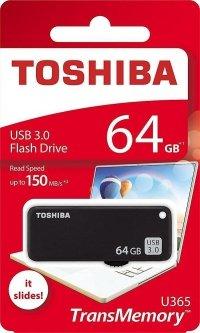 Pendrive Toshiba 64GB TransMemory™ U365 (PD64G30TU365KR) USB 3.0 Black