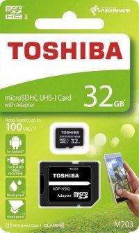 Karta pamięci MicroSDXC TOSHIBA M203 (SDU32GSDHCU1M203EAT<br />R) 32GB UHS-I Class 10 + adapter