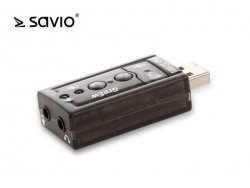 SAVIO Karta dzwiękowa USB 7.1 AK-01