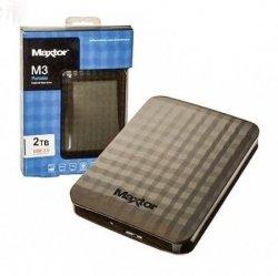 Dysk zewnętrzny Maxtor M3 Portable, 2.5'', 2TB, USB 3.0, czarny