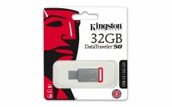 Kingston 32GB USB 3.0 DataTraveler 50 (Metal/Red)