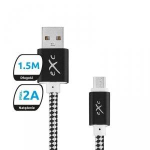Kabel USB 2.0 eXc DIAMOND USB A(M) - micro USB B(M) 5-pin, 1,5m, czarno-szary