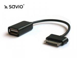 Adapter Samsung GALAXY TAB–USB, Złącza: Samsung  30pin - USB-A żeński (OTG)