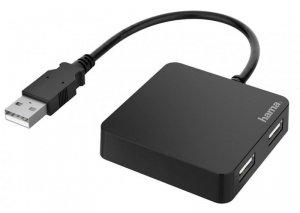 Hub USB 2.0 Hama USB A - 4x USB-A czarny