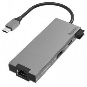 Hub USB Hama multiport USB-C 2xUSB-A 3.2, 1xTYP-C, 1xHDMI,1xLAN