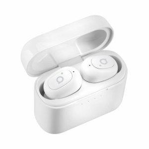 Słuchawki z mikrofonem Acme BH420W bezprzewodowe Bluetooth douszne bezkablowe TWS, białe