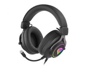 Słuchawki z mikrofonem Genesis Neon 750 Gaming podświetlenie RGB czarne