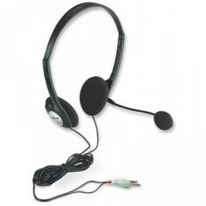 Słuchawki z mikrofonem Manhattan Ekonomiczne Stereo