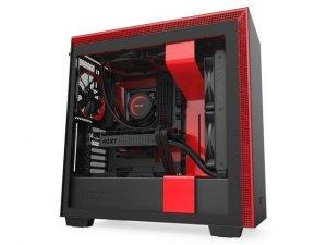 Obudowa NZXT H710 Midi Tower czarno-czerwona z oknem