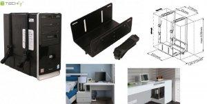Uchwyt Techly na obudowę PC boczny, czarny