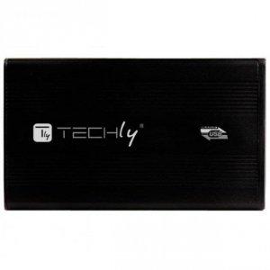 Obudowa na dysk Techly SATA 2.5, USB 3.0, aluminiowa, czarna